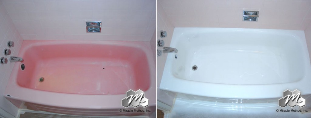 your pepto bismol pink tub miracle method surface refinishing blog