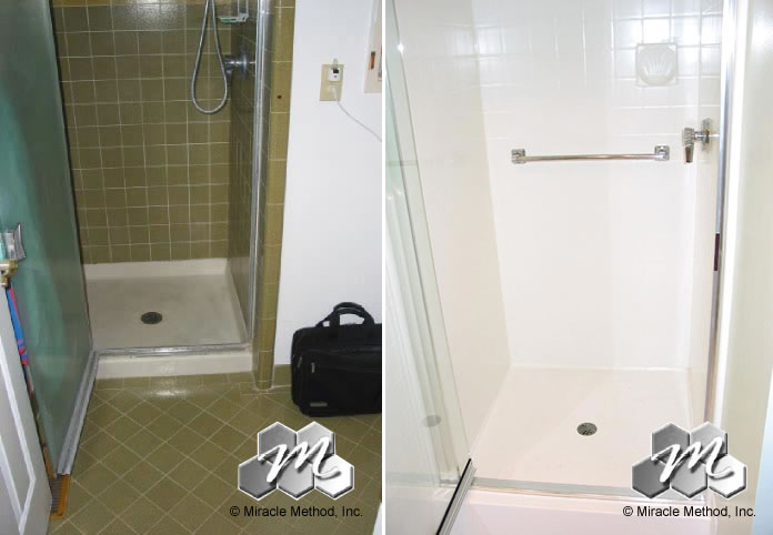 Before And After Tile Shower Refinishing