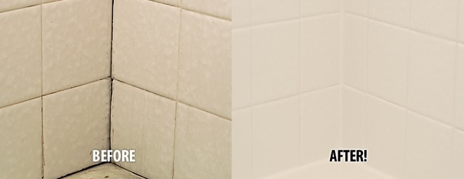 before and after tile repair by Miracle Method