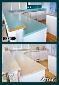 Blue Green Laminate BA Countertop