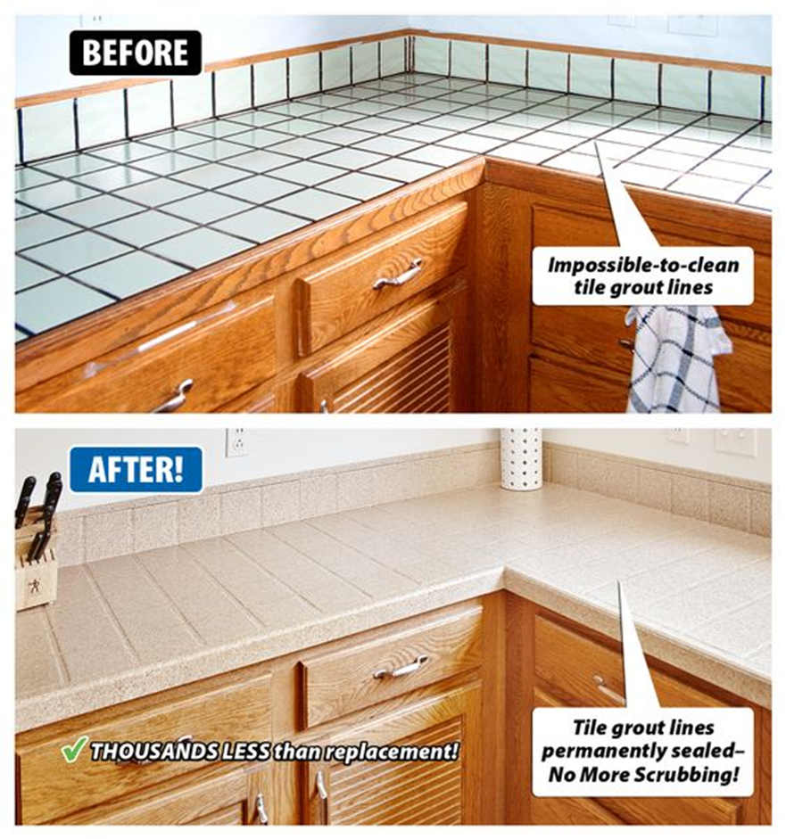 worn countertops